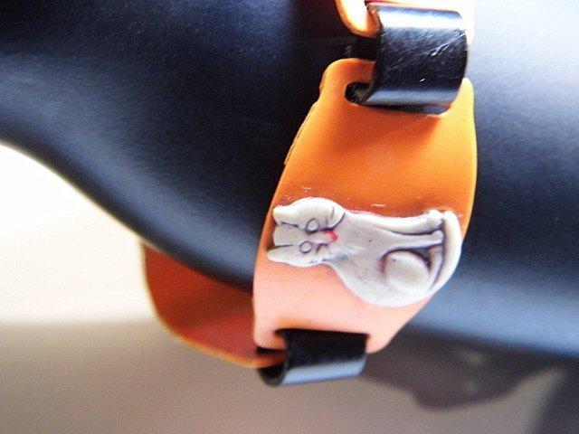 Ca 1930 Celluloid Kitty Cat Bracelet - 4