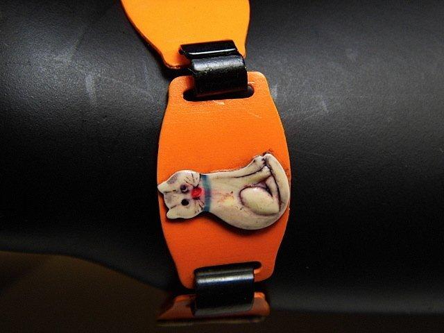 Ca 1930 Celluloid Kitty Cat Bracelet - 5