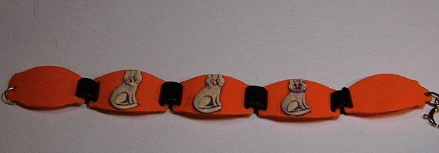 Ca 1930 Celluloid Kitty Cat Bracelet - 7