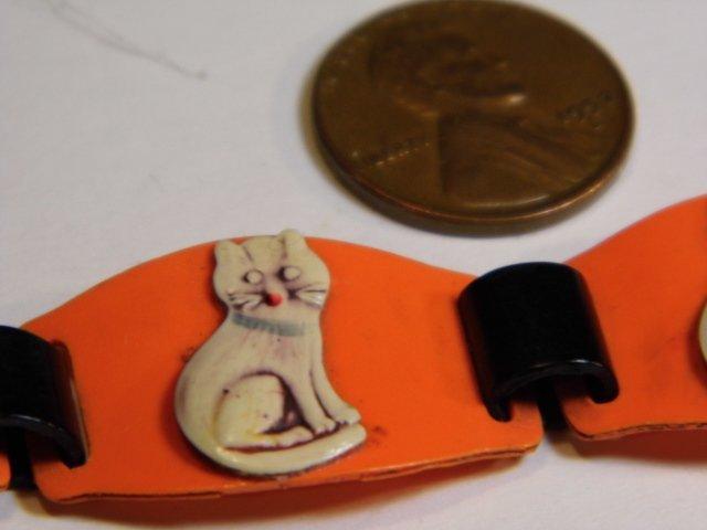 Ca 1930 Celluloid Kitty Cat Bracelet - 8