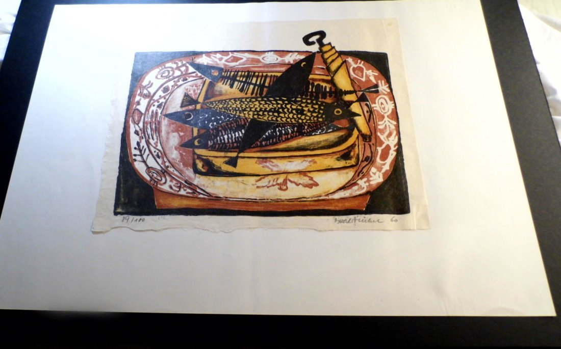 Illegible German Block Print Can of Sardines 1960 - 2
