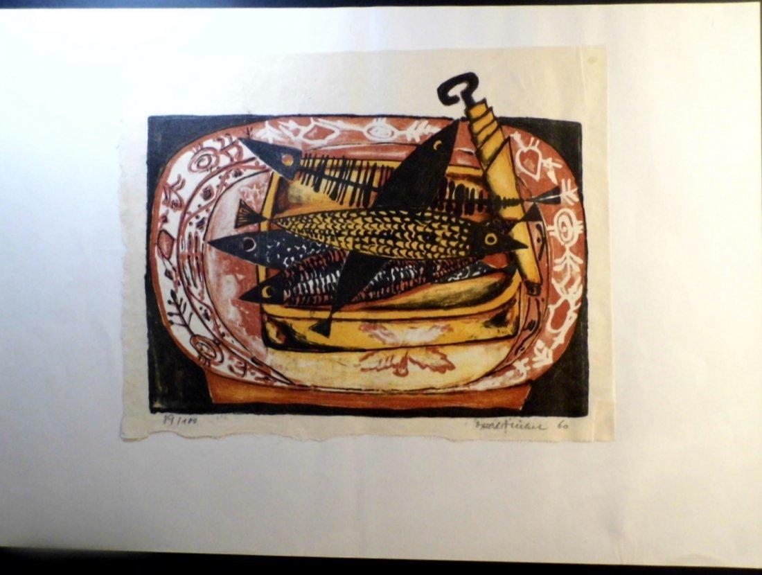 Illegible German Block Print Can of Sardines 1960 - 3