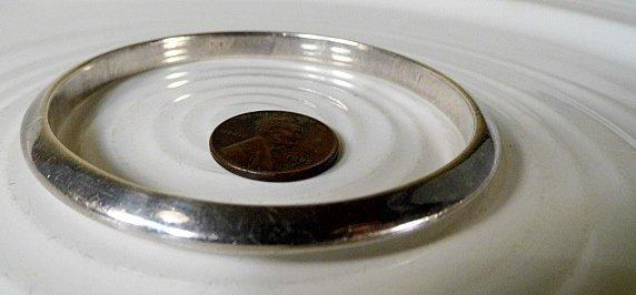 Bevel Sterling Silver Bangle Bracelet