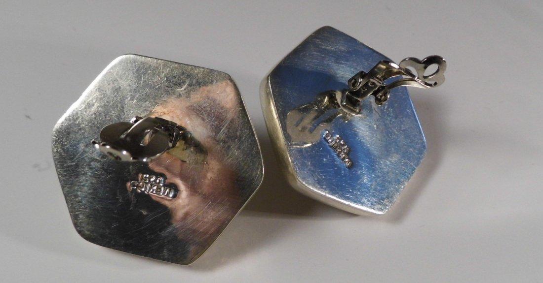 Modern Mexican Taxco Sterling Silver Earrings - 2