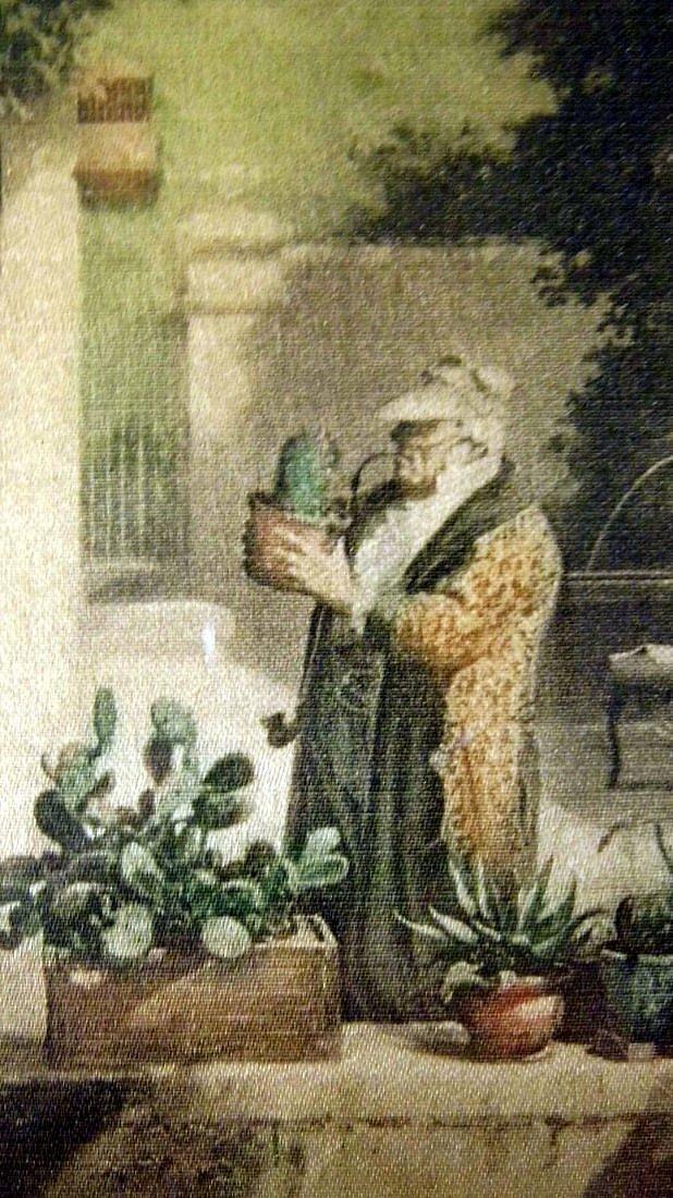 Biedermeier Carl Spitzweg 1808-85 Etching on Satin