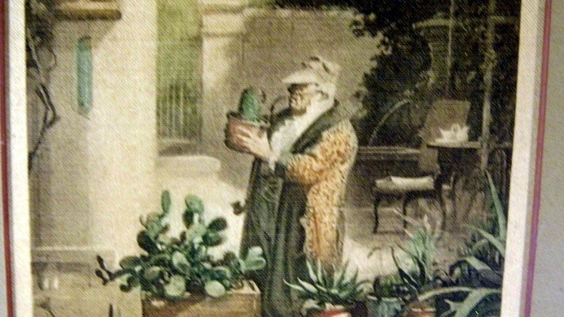 Biedermeier Carl Spitzweg 1808-85 Etching on Satin - 4