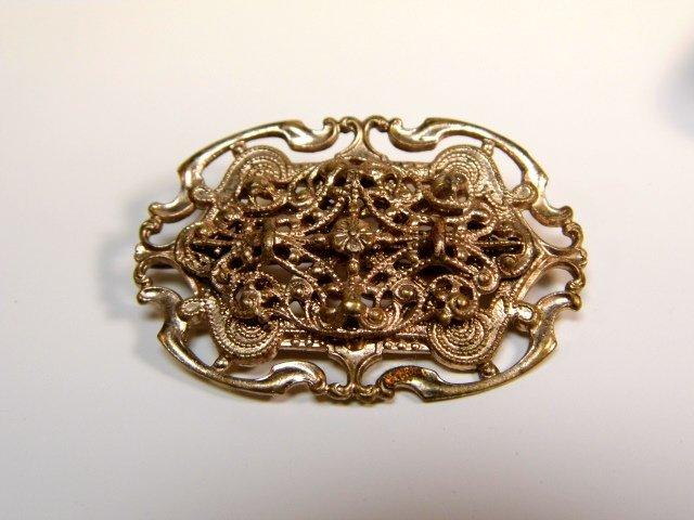 Pretty Antique Filigree Victorian / Edwardian Brooch