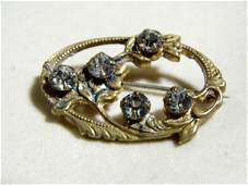 Small Antique Victorian Floral Pin
