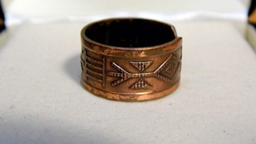 Vintage Southwestern Copper Ring sz 6 1/2 to 7