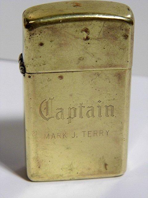 Vintage Inscribed Calligraphy Zippo Lighter 1932-83