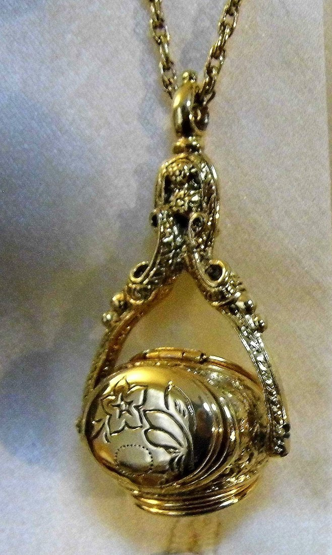 Designer 1928 Triple Locket Pendant Necklace