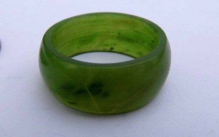 Vintage Ring Spinach Jade Band 6 1/2.