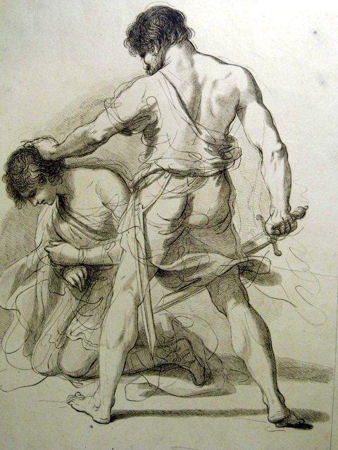 Francesco Bartolozzi b1727 Copper Etching Abraham Isaac