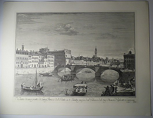 Giuseppe Zocchi Engraving Arno Embankment