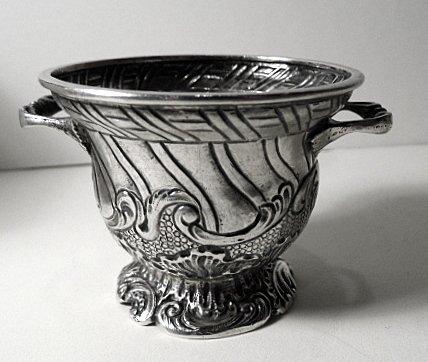 Large Antique French Salt Bowl Cellar