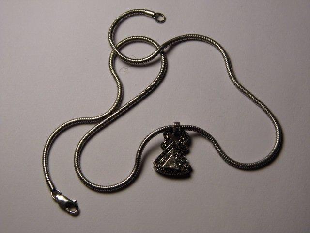 Sterling Silver Judith Jack Vintage Pendant Necklace