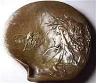 1890's Franz Bergman Bronze Plate/Tray All Hallmarks