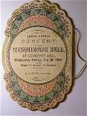 Ephemera Konomoc CT Hose Company Masquerade Ball 1882
