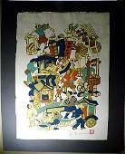 Yoshitoshi Mori 18981992 Woodblock Print Market Day
