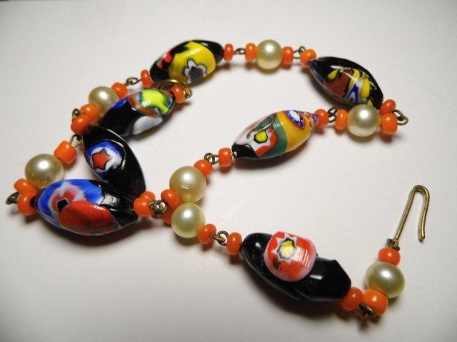 Sweet Vintage Italian Millefiori Choker Necklace