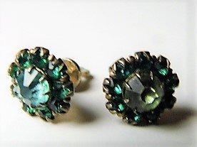 Beauty Pair Sterling Aquamarine Crystal Post Earrings