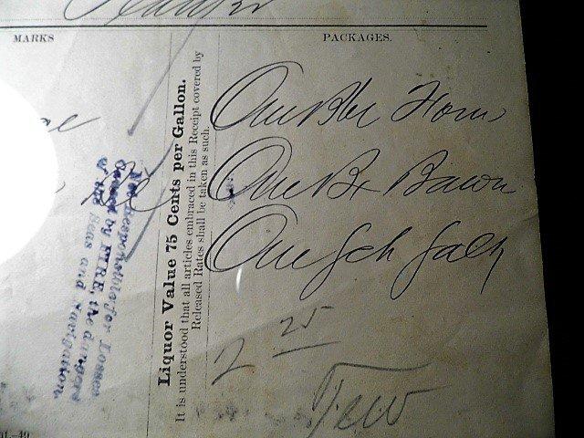 Charleston Ephemera 1884 Grocery Bill Wieters Store Ham - 5