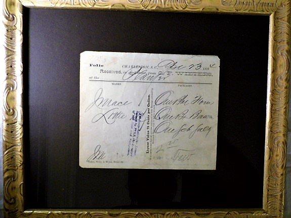 Charleston Ephemera 1884 Grocery Bill Wieters Store Ham - 7