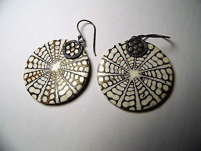 Sterling Silver Shell Designer Earrings