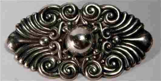 Vintage Los Castillo Mexican Sterling Silver Brooch