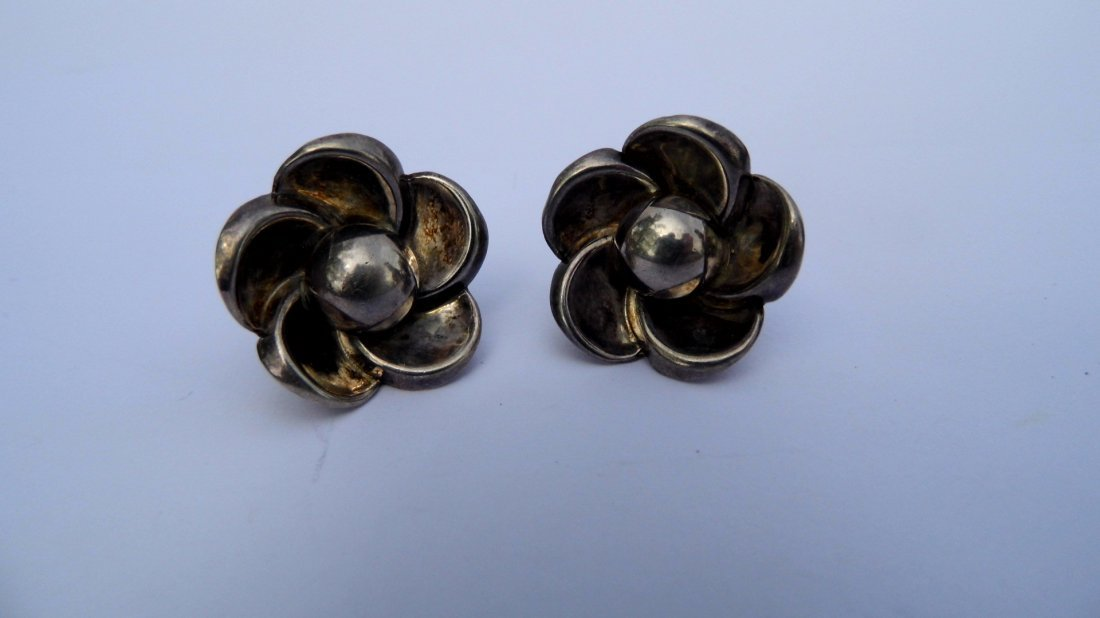 Marcel Boucher Parisina Sterling Silver Earrings Mexico