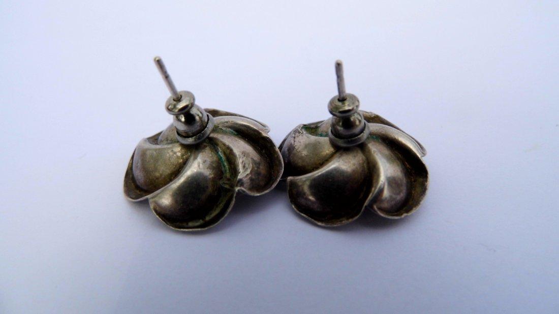 Marcel Boucher Parisina Sterling Silver Earrings Mexico - 2