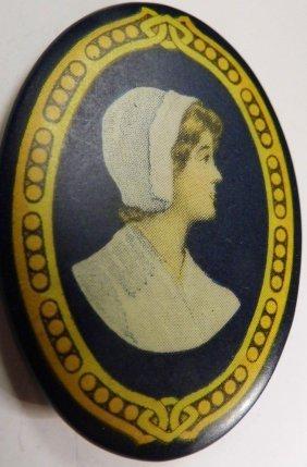 Antique Nurse Portrait Pin?