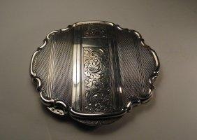 Antique Rocaille European 800 Silver Compact