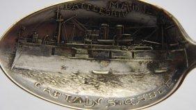 Captain Sigsbee Battleship Maine Souvenir Spoon