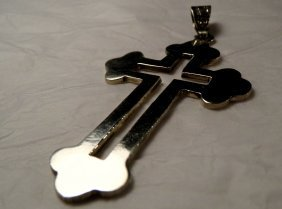 Vintage Mexican Taxco Sterling Silver Cross