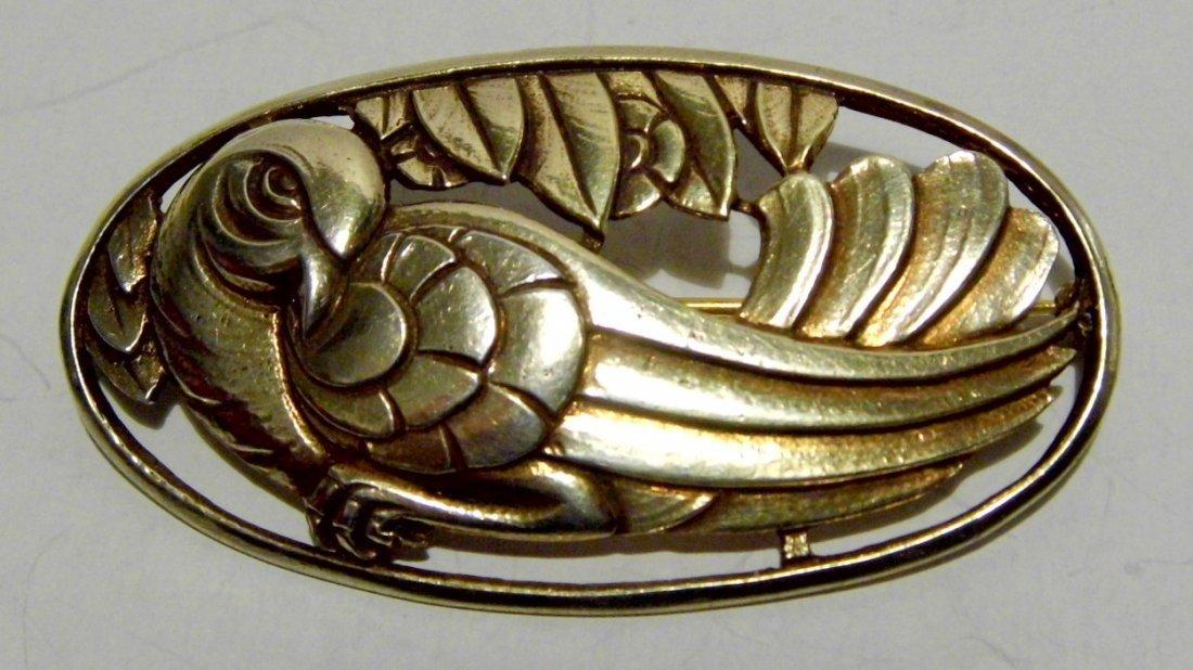 Period Art Deco Guglielmo Cini Sterling Silver Brooch