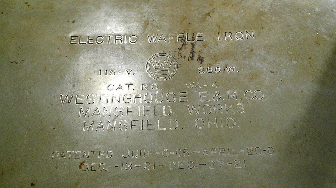 Machine Age Steampunk Westinghouse Waffle Iron 1905 - 6