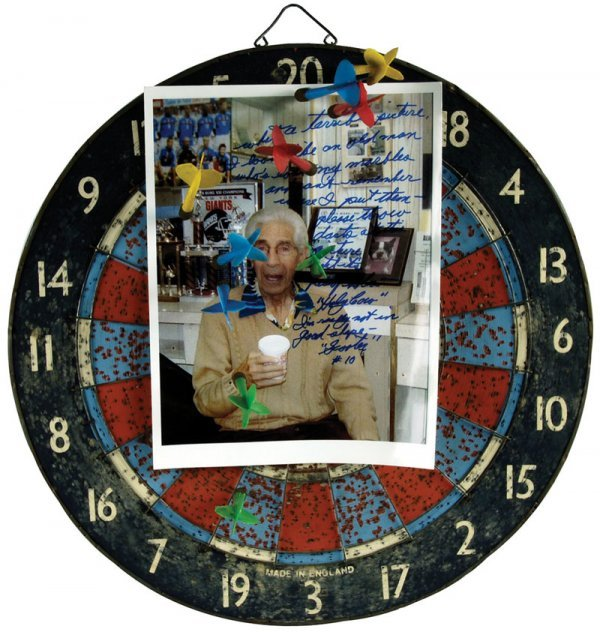 Baseball Phil Rizzuto Signed Dart Board
