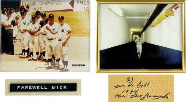 Two Mickey Mantle 16  x 20  Baseball  photographs