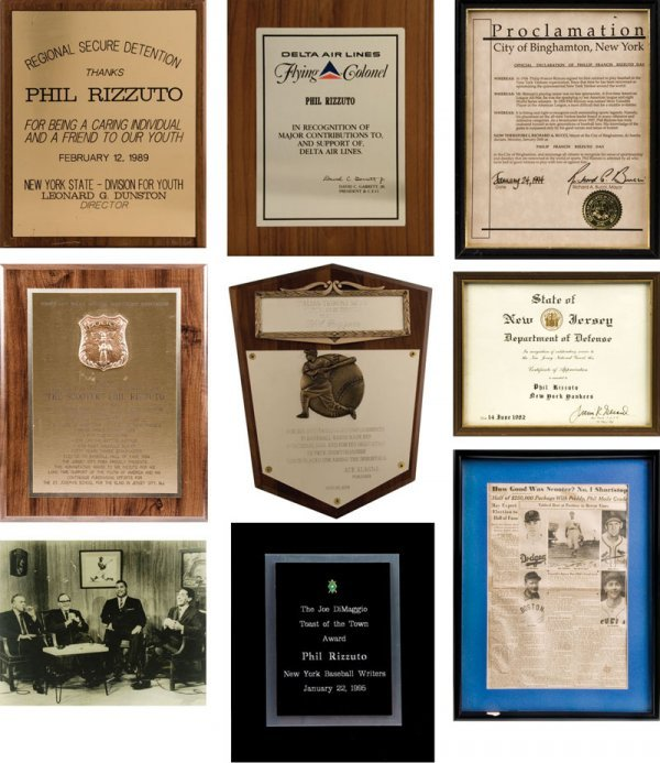 9 Rizzuto Baseball Awards and Plaques