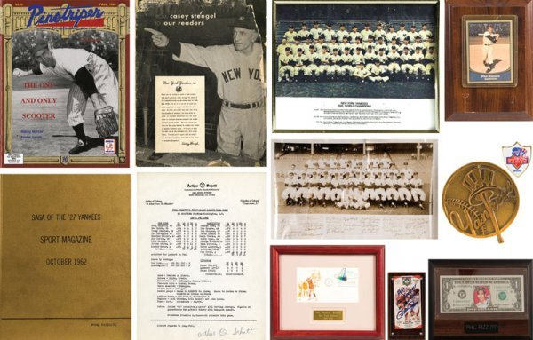11 Phil Rizzuto Memorabilia Items