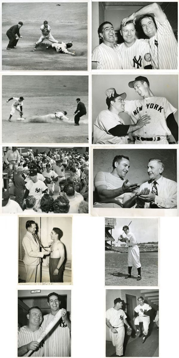 35 Original 1950s Baseball Wire Photos