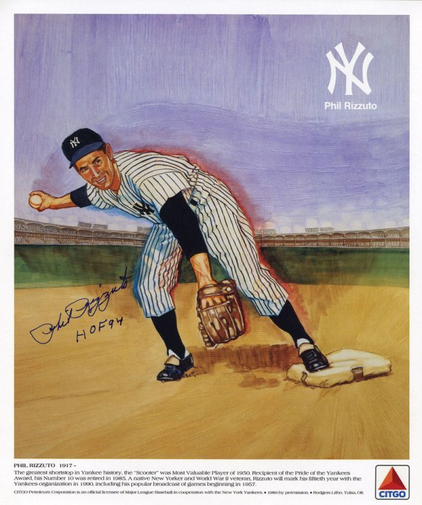 6 Baseball Phil Rizzuto Signed Citgo Posters