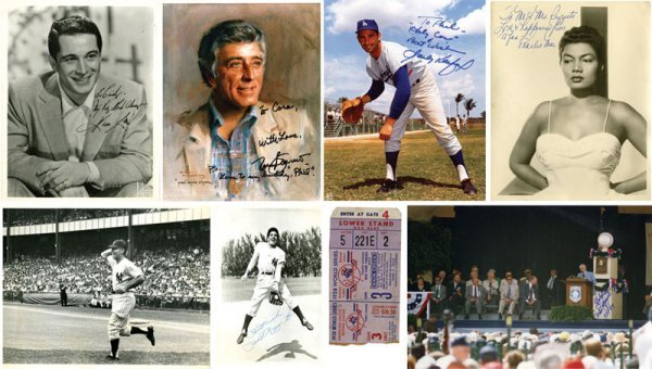 8 Autographs Photos Koufax Pearl Bailey Tony Bennett Pe