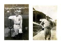 Trimmed Photos of Ty Cobb and Babe Ruth