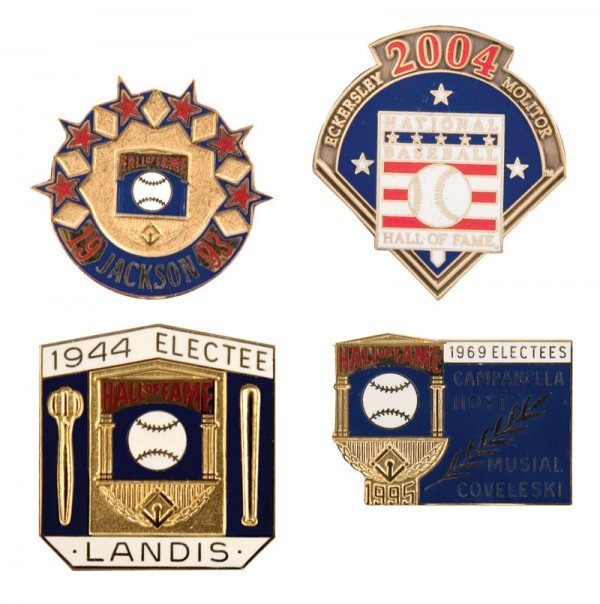 501: Group of Hall of Fame Induction Pins (4)