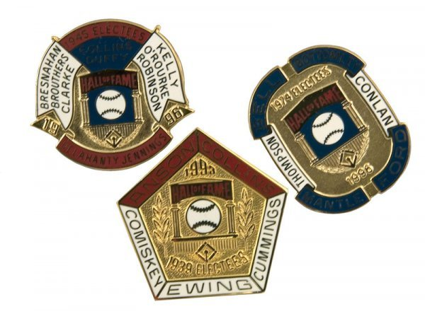 502: Group of Hall of Fame Induction Pins (3)