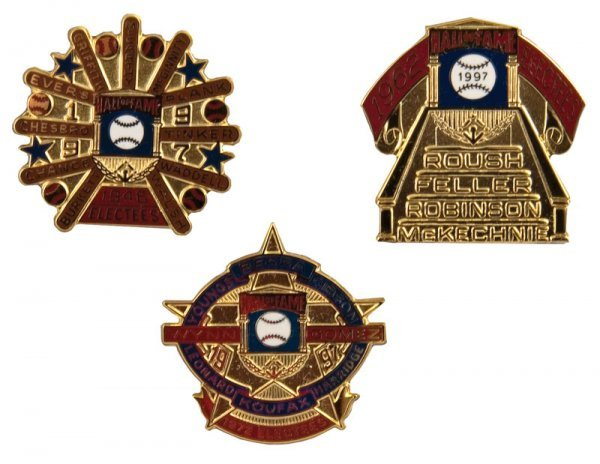 503: Group of Hall of Fame Induction Pins (3)