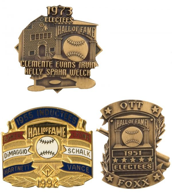 504: Group of Hall of Fame Induction Pins (3)