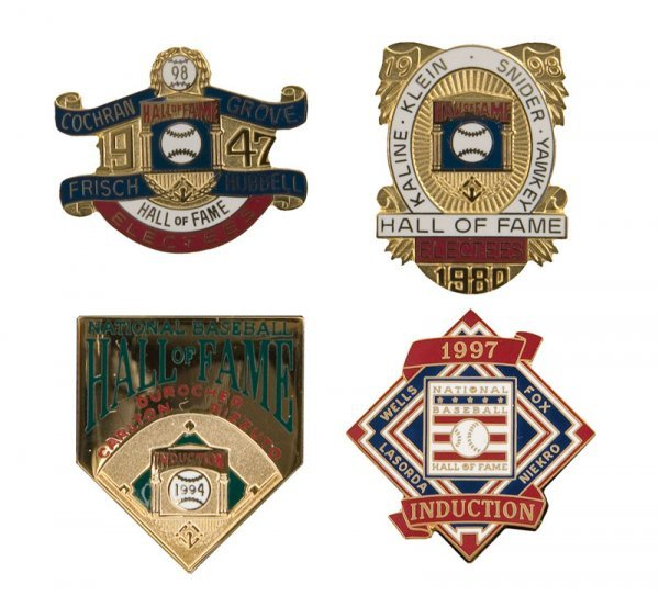 505: Group of Hall of Fame Induction Pins (4)
